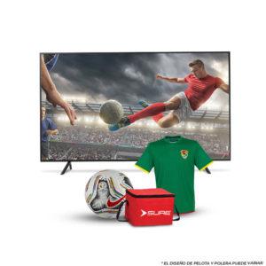 "Combo TV SURE 24"" HD DLED CON SINTONIZADOR DIGITAL ISDBT-HD24W + CAMISETA O PELOTA + COOLER SURE"