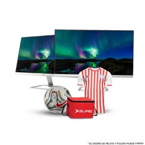 Combo Monitor HP 24ES DUAL DISPLAY 24″ Ultra slim 1080 + CAMISETA O PELOTA + COOLER SURE