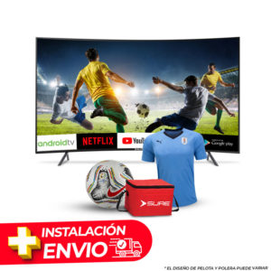 Combo TV 65″ SMART CURVED 4K + CAMISETA O PELOTA + COOLER SURE + INSTALACION Y DELIVERY