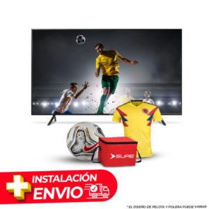 Combo TV SURE 55″ FHD CON SINTONIZADOR DIGITAL + CAMISETA O PELOTA + COOLER SURE + INSTALACION Y DELIVERY