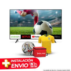 Combo TV 75″ SMART UHD 4K SURE + CAMISETA O PELOTA + COOLER SURE + INSTALACION Y DELIVERY